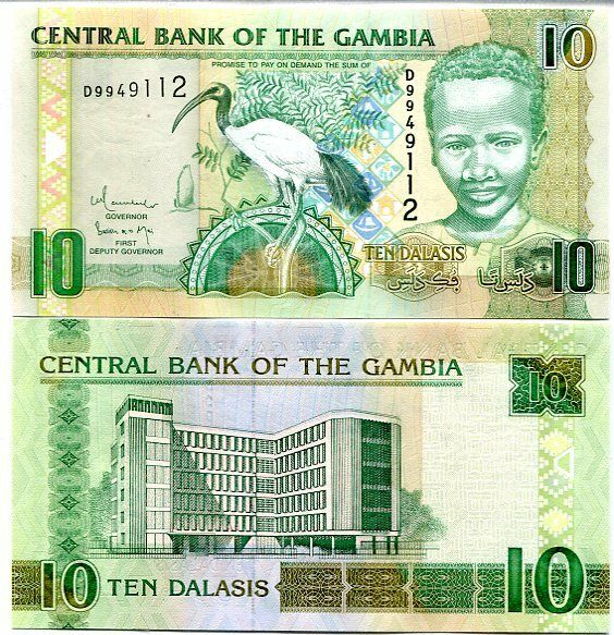 GAMBIA 10 DALASIS 2006 FIRST DEPUTY GOVERNOR P 26 UNC