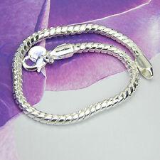 5pcs Women's Cute 3mm Snake Type Chain Bangle Bracelet