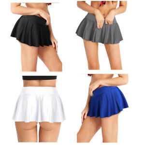 e909fc645 Image is loading Women-Pleated-Slim-Skirt-Stretchy-Tennis-Skorts-Sports-