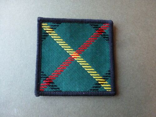 Hunting Stewart tartan Royal Scots TRF and also badge backing