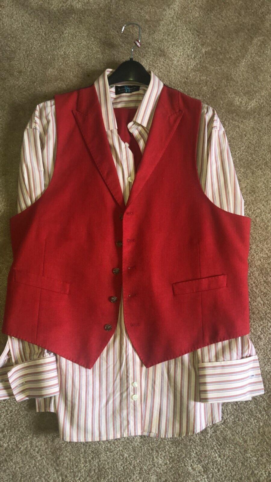 Men's Sean John Vest Set W  French Cuff Shirt