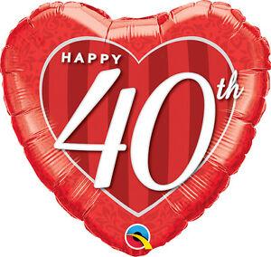 40th-ANNIVERSARY-BALLOON-18-034-RED-HEART-RUBY-ANNIVERSARY-QUALATEX-BALLOON