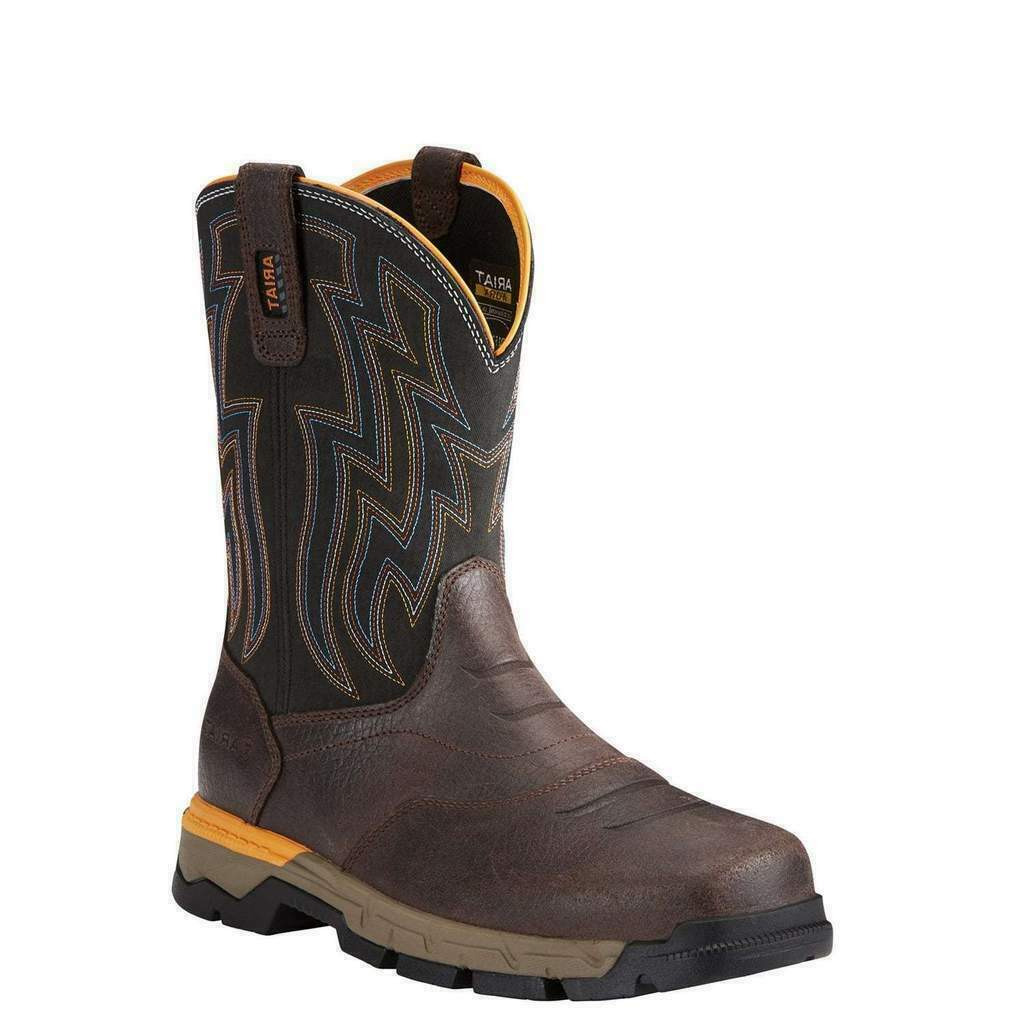 Ariat Mens Rebar Waterproof Composite Toe Safety Western Boots 10021487--US 10D