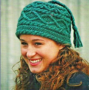 Details about AWESOME BRAID & CABLE HAT to KNIT in 2 SIZES by CAROLYN DOE  for FIBER TRENDS