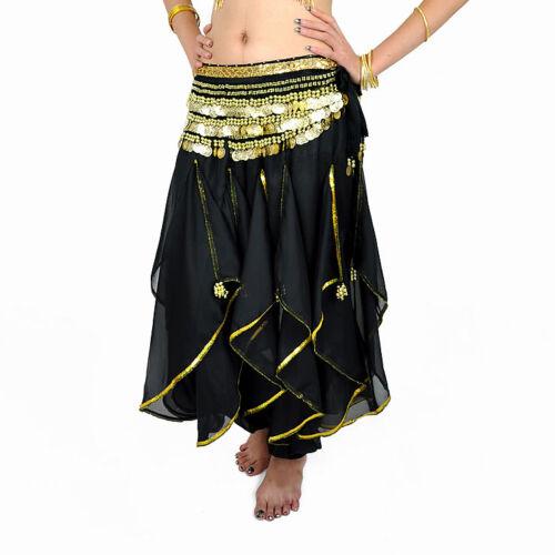 New belly dance costume Harem Pants Skirt /& gold wavy 12 colors