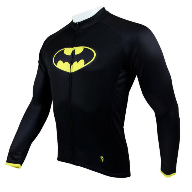 New Batman Mens Long Sleeve cycling jerseys bike clothing Rider Apparel S-3XL
