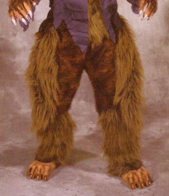 Faun Animal Legs /& Hooves Brown Hairy Pants /& Feet Adult Latex Halloween Costume