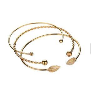 vestibilità classica nessuna tassa di vendita 100% di alta qualità Bracciale rigido oro set bracciali bracciale alla moda economico ...