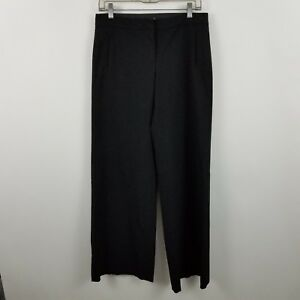 Express Stretch Women's Black Wide Leg Flare Career Dress Pants Sz 7/8r
