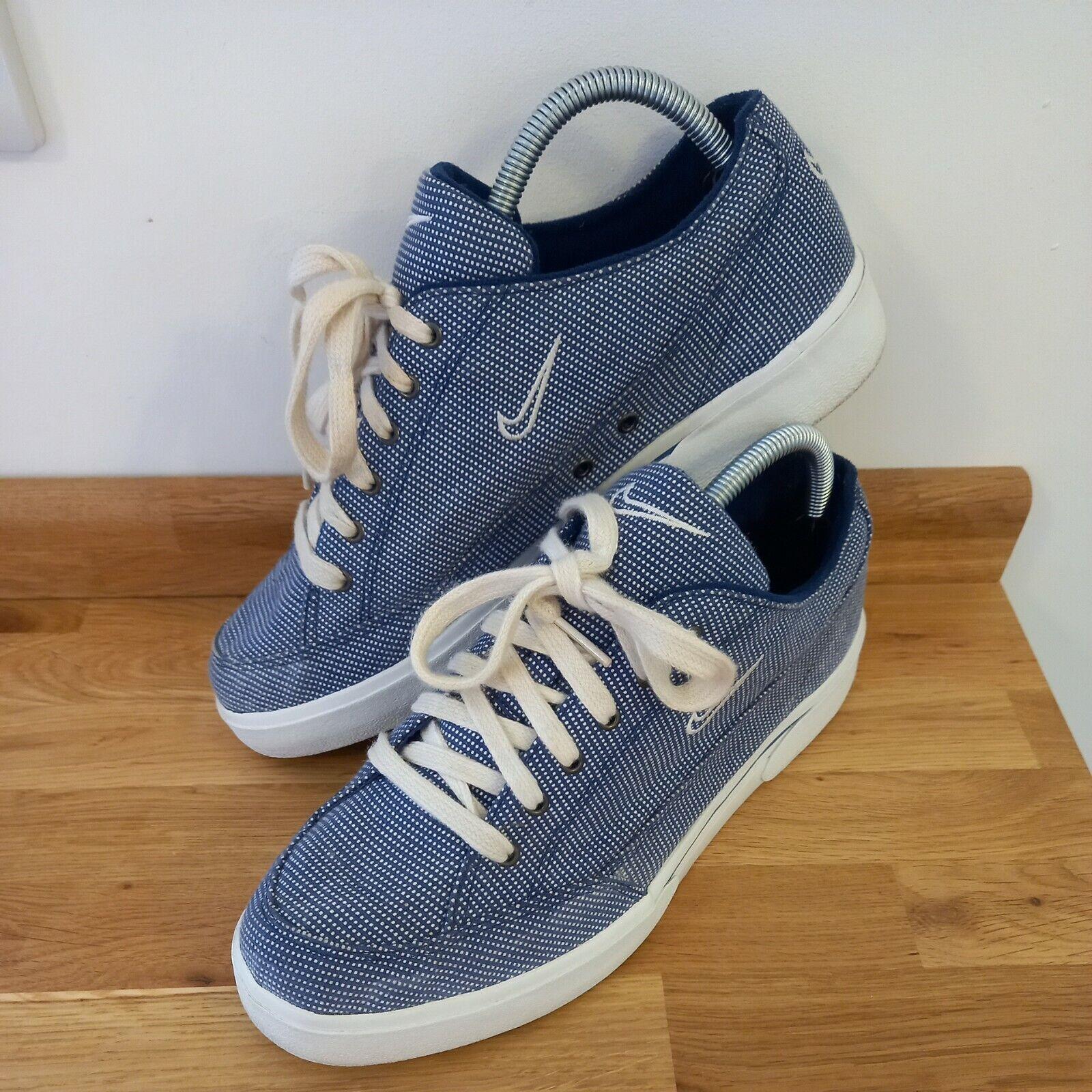 Nike Court GTS Femme Baskets Bleu/blanc carreaux Taille UK7 Chaussures de Tennis