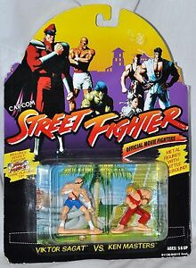 Street Fighter Viktor Sagat Vs Ken Masters 2 Pack Metal Figures