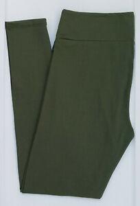 TC-LuLaRoe-Tall-amp-Curvy-Leggings-Beautiful-Solid-Army-Green-NWT-03