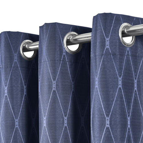 100/% Blackout Curtain Jacquard Thermal Insulated Victoria Panels Set Of 2