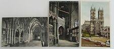 3x LONDON Westminster Abbey Vintage Postcards ~1910/30 England Great Britain