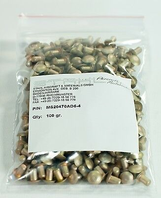 Legierung 2117 per 100 Gramm mit CoC Universalniet MS20470AD5-8 Rivet