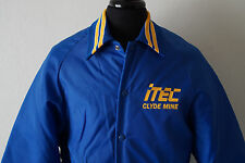 Clyde Mine Majestic Athletic Wear Mens Large Blue Varsity Jacket Made in USA