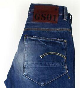 G-Star Raw Herren Gerades Bein Jeans Größe W30 L32 ACZ26