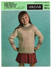 Sirdar-7969 Sirdar Ladies /& Girls Sweaters Wild Knitting Pattern 7969