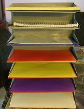 Vintage Industrial Metal Paper File Sorter Desk Organizer 7 Inout Trays Gray