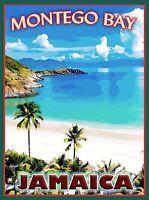 Montego Bay Jamaica Caribbean Islands Island Travel Advertisement Art Poster