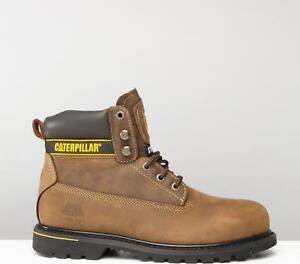 Détails sur Caterpillar ® HOLTON Homme Steel Toe Cap Résistant à l'eau S3 Bottes de sécurité marron afficher le titre d'origine