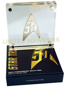 2016-1-50th-Anniversary-Of-Star-Trek-Delta-1oz-99-99-Silver-Proof-Coin-NEW-COA