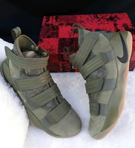 c2ee1e9c125d SIZE 12.5 MEN S NIKE LEBRON SOLDIER XI 11 SFG 897646 200 OLIVE GREEN ...