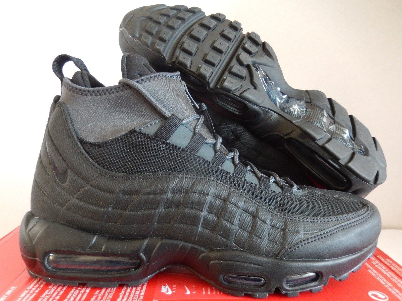 Nike Air Max 95 Sneakerboot shoes Black Anthracite White (806809 001) Size 7.5