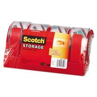 Scotch Long Lasting 2 Packing Tape With Dispenser - Mmm3650s4rd on sale
