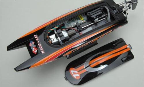 Catamarano Radiocomandato Joysway Magic Cat Raffreddato Acqua 2.4Ghz Nero//Rosso