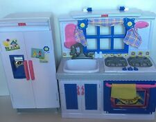 "Fisher Price My Sweet Kitchen Oven, Sink, and Fridge Fits American Girl 18"" Doll"