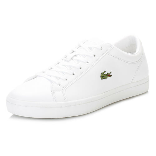 Lacoste Womens White Trainers, Straightset BL1 SPW, Lace Up, Casual Sneaker Shoe