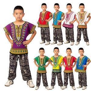 Childs Kids Afrikanskaya Tradicionnaya Dashiki Plemennoj Festival