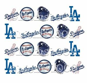 Image Is Loading La Dodgers Nail Art Water Decals Free Shipping