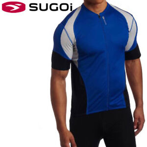 Sugoi-RPM-Men-039-s-Cycling-Jersey-S-M-L-Blue-Black