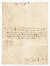 R529-BOLOGNA-DALL'OCCA G.BATTISTA TEOLOGO-AUTOGRAFO 1775