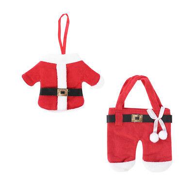 Set Poches Étuis Couverts Vaisselle Noël Santa Hauts Pantalons Décor Table Dîner