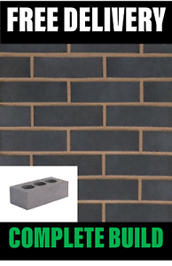 Perforated Class B Blue Engineering Bricks 65mm (215mmx65mmx10<wbr/>2mm) FREE DELIVERY