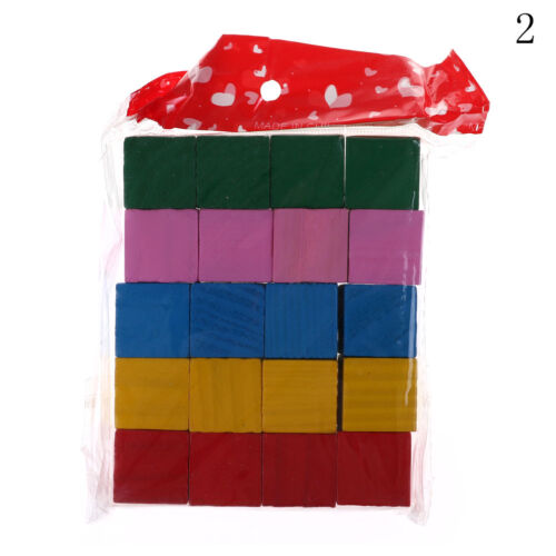 Candy Colorful Wood Cube Bright Assemblage Block Early Learning To ÁÁ