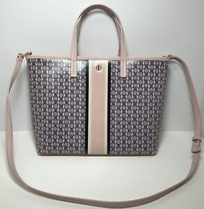 d878320c8d298 Image is loading TORY-BURCH-Small-Gemini-Link-Tote-Pink