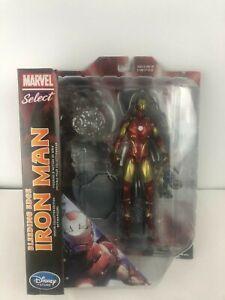Figurine d'action de 7 pouces Marvel Select Iron Man - Exclusivité Bleeding Edge