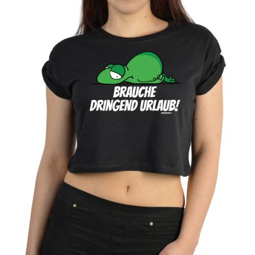 lustiges Sprüche Crop Top Coole Sprüche Damen T-Shirt bauchfreies Damen Top