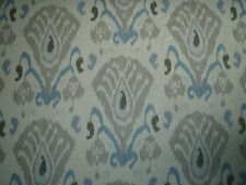 "ZOFFANY CURTAIN FABRIC DESIGN ""Annapurna"" 2.4 METRES SKY & LINEN TOWN & COUNTRY"