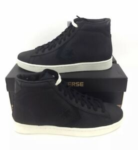 6a76962198f NEW Converse PL 76 Mid Top Black Egret Bumpy Texture Mens Shoes ...