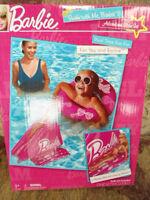 Barbie Swim With Me Pool Time Fun Inflatable Raft, Slide & Innertube Doll