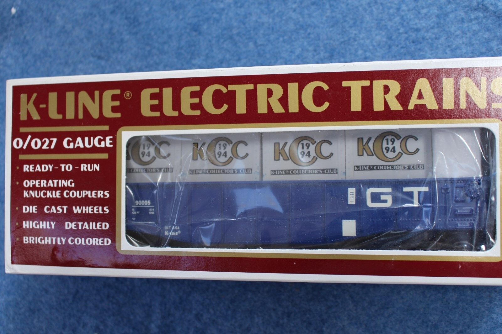 1994 K-Line  K90005 GT Grand Trunk Gondola w Crates KCC Collector's Club L2659