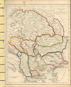 c1815-MAP-TURKEY-amp-HUNGARY-BOSNIA-BULGARIA-TRANSYLVANIA-AUSTRIA-HAND-COULORED