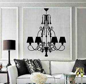 Vinyl Wall Decal Chandelier Home Interior Room Stickers 638ig Ebay