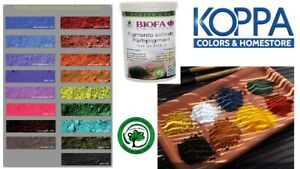 Biofa Pigmenti Naturali In Polvere 1301 1317 Per Colorare Le Pitture Biofa Ebay