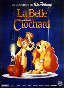 Affiche-40x60cm-LA-BELLE-ET-LE-CLOCHARD-LADY-AND-THE-TRAMP-Disney-R1997-BE